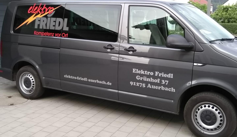 Beschriftung Elektro Friedl